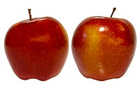 Two red apple, isolated