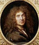Portrait of Moliere, pseudonym of Jean-Baptiste Poquelin (Paris, 1622-1673), French playwright and actor. Painted in 1658 by Pierre Mignard (1612-1695...