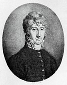 Portrait of Johann Christian Innocenz Bonaventura Cannabich (Mannheim, 1731 - Frankfurt, 1798), German violinist and composer.  Milan, Museo Teatrale ...