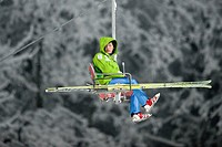 Japan´s Tomoya Watanabe during the Ski Jumping Men race at Nordic Junior World Ski Championships in Liberec, some 90 kilometers North of Prague, Czech...