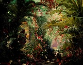 The enchanted garden of Klingsor, set design for the second act of Parsifal by Richard Wagner (1813-1883), designed by Paul von Joukowski, painted by ...