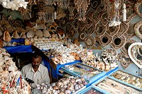 Sea Shells shop in Kanyakumari , Tamil Nadu , India