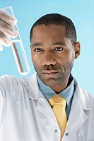 Laboratory Technician Analyzing Samples