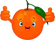 Cheerful Cartoon Orange character