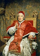 Portrait of Pope Clement XIII Rezzonico, oil on canvas, by Anton Raphael Mengs (1728-1779), 100x85 cm.  Venice, Ca' Rezzonico (Museo Del Settecento Ve...