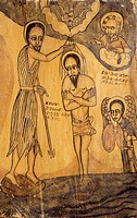The Baptism of Christ, icon. Ethiopia, 18th-19th century.  Private Collection