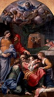 Nativity of the Virgin, 1605_1609, by Annibale Carracci 1560_1609, oil on canvas, 279x159 cm