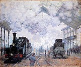 Saint-Lazare Station in Paris, 1876, by Claude Monet (1840-1926).  Cambridge (Ma), Harvard University Museums, Fogg Art Museum