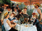 Luncheon of the boating party, 1881, by Pierre-Auguste Renoir (1841-1919), oil on canvas, 129x172 cm.  Washington, Phillips Collection (Art Museum)