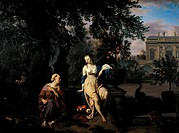 Vertumnus and Pomona, 1670, by Adriaen van de Velde 1636_1672.