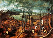 Stormy day, 1565, by Pieter Brueghel the Elder (1525-1569), oil on canvas, 118x163 cm.  Vienna, Kunsthistorisches Museum (Museum Of Fine Arts)