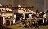 Inside the Cafe de Paris, by Jean Leon Palliere (1823-1887).  Buenos Aires, Museo Histórico Nacional Del Cabildo De La Ciudad De Buenos Aires Y De La ...