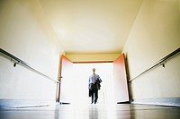 Businessman in a corridor