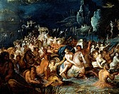 Neptune's baths, by Frans Francken II or Francken the Younger (1581-1642). Detail.  Treviri, Stadtisches Museum Simeonstift Trier