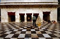 Devotees at Sri Darbar Sahib (Gurudwara) ; Jhanda Chowk ; Dehradun ; Uttaranchal ; India