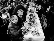 Schoerghuber, Josef, 14.4.1920 _ 18.5.1995, German businessman, portrait, with Bavarian Prime Minister Franz Josef Strauss and President of Bundestag ...