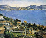 Estaque from the Gulf of Marseille, 1878-79, by Paul Cezanne (1839-1906).  Paris, Musée D'Orsay (Art Gallery)