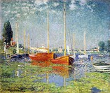 Argenteuil, 1875, by Claude Monet (1840-1926).  Paris, Musée D'Orsay (Art Gallery)
