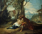 Good Samaritan, by Francesco Fontebasso 1707_1769, oil on canvas