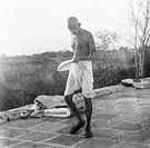 Mahatma Gandhi at Maganwadi Wardha , 1936 , India NO MR