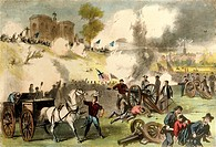 The Battle of Gettysburg, July 1-3, 1863, print. The American Civil War, the United States, 19th century.  Providence, Brown University Library