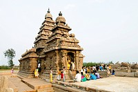 The shore temple in Mahabalipuram , Tamil Nadu , India