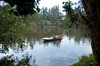 Boating in Kodai lake , Kodaikanal popularly known as Kodai , Tamil Nadu , India