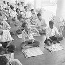 Classroom for children and adults , VIDYAPITH is training rural youth for progressive living , Nanjangud town near Mysore , Karnataka , India NO MR