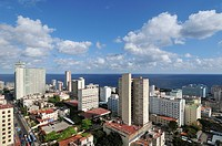 Havana  Cuba  View of high rise buildings in El Vedado