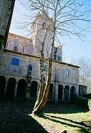 Cloister. Monastery of Santa Cristina de Ribas de Sil Ribeira Sacra, Orense province, Galicia, Spain.