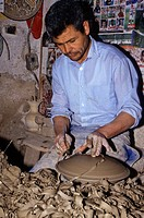 Ceramics, Nabeul, Tunisia  Potter at Work