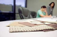 Fabric Samples on Conference Table