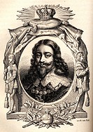 Charles I., King of England, 1625 _ 1649, born 1600, executed 1649, portrait, steel engraving from The history of England by Thomas Babington Macaulay...