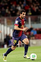 16 01 2013 Barcelona, Spain Montoya in action during the Spanish Copa del Rey game between Barcelona and Malaga from the Nou Camp