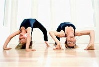 Backbending with Her Mother