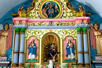 Altar , St. Mary´s Marth Mariam Forane church built in 105 A.D.in Kuravilangad located in Kottayam district of Kerala , India