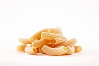 Small Pile of Homemade Rigatoni, White Background