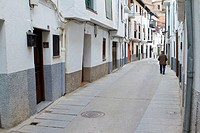 Typical street of jewish quarter  Hervás, village declarated Historical-Artistic Site  Caceres province  Spain