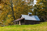 Old barn in Peacham, Vermont, USA