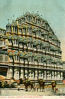 Heritage ; old picture postcard ; Hawa Mahal ; Jeypore now Jaipur capitol of Rajasthan ; India