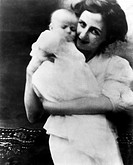 Hayward, Susan 30.6.1918 _ 14.3.1975, US actress, childhood admission with the mother, child, baby,