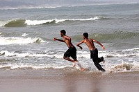 Rushikonda beach near Vishakhapatnam ; Andhra Pradesh ; India