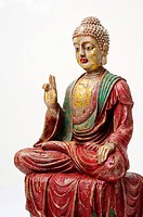 Fibre statue of lord buddha