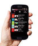 Samsung Galaxy S3 android smartphone showing BBC iPlayer