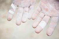 Hands of a Rock Climber
