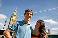 couple in front of Big Ben, London