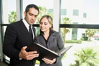 Businesswoman Showing Information to Co_worker