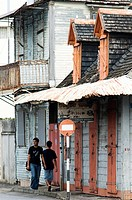 old creole architecture, port louis, mauritius.