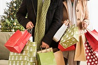 Couple with Christmas shopping