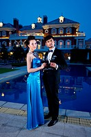 Young couple at party